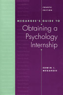 Megargee s Guide to Obtaining a Psychology Internship