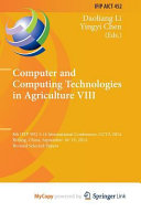 Computer And Computing Technologies In Agriculture Viii Book PDF