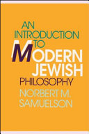 An Introduction to Modern Jewish Philosophy