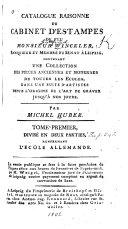 Catalogue raisonné du cabinet d'estampes de feu monsieur Winckler ...: L'ecole allemande