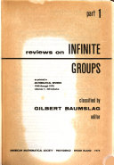 Reviews on Infinite Groups