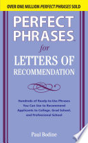 Perfect Phrases for Letters of Recommendation   Paul Bodine