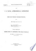 The U S Naval Astronomical Expedition To The Southern Hemisphere During The Years 1849 50 51 52
