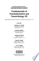 Fundamentals of Nanoindentation and Nanotribology