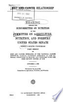 Hearings  Reports and Prints of the Senate Committee on Agriculture  Nutrition  and Forestry