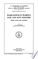 Mark Downs In Women S Coat And Suit Industry
