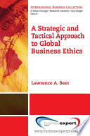 A Strategic And Tactical Approach To Global Business Ethics PDF
