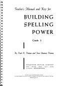 Building Spelling Power Book