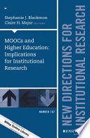 MOOCs And Higher Education  Implications For Institutional Research
