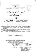 Audio visual Materials in Teacher Education