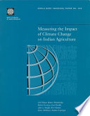Measuring The Impact Of Climate Change On Indian Agriculture Book PDF