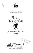 Bark If You Love Me