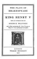 The Plays Of Shakespeare King Henry V King Henry Viii