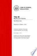Title 50 Wildlife And Fisheries Part 660 To End Revised As Of October 1 2013