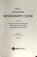 Pdf West's Annotated Mississippi Code