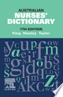 Australian Nurses  Dictionary Book