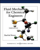 Cover of Fluid Mechanics for Chemical Engineers