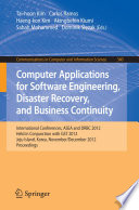 Computer Applications For Software Engineering Disaster Recovery And Business Continuity Book PDF