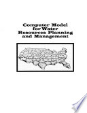 Computer Models For Water Resources Planning And Management Book PDF