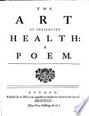 The Art Of Preserving Health A Poem Price Four Shillings Sewed
