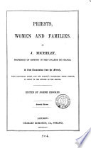 Priests Women And Families A New Tr With Additional Notes And The Third Preface Ed By J Crookes