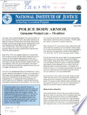 Police Body Armor Book