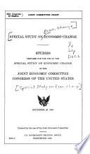 Special Study on Economic Change