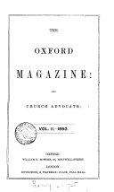 Pdf The Parochial (Oxford parochial) magazine [afterw.] The Oxford magazine and Church advocate