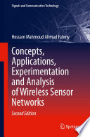 Concepts  Applications  Experimentation and Analysis of Wireless Sensor Networks Book