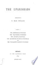 Sacred Books of the East  The Upanishads  pt  1 Book PDF