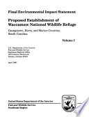Proposed Establishment of Waccamaw National Wildlife Refuge, Georgetown County, Horry County, and Marion County