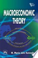 Macroeconomic Theory [Pdf/ePub] eBook