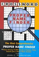 Crossword Proper Name Finder Book