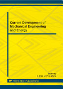 Current Development of Mechanical Engineering and Energy