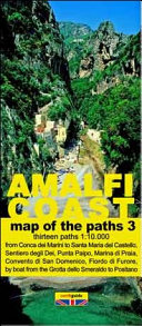 Map of the Paths of the Amalfi Coast. Scale 1:10.000