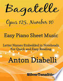 Bagatelle Opus 125 Number 10 Easy Piano Sheet Music