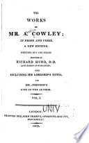 The Works of Mr  A  Cowley