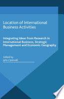 Location of International Business Activities