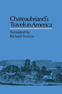 Pdf Chateaubriand's Travels in America Telecharger