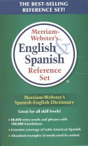 Merriam Webster s English   Spanish Reference Set
