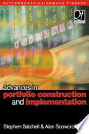 Advances in Portfolio Construction and Implementation Book