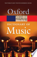 The Concise Oxford Dictionary Of Music Book PDF