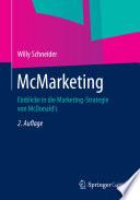 McMarketing  : Einblicke in die Marketing-Strategie von McDonald's