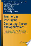 Frontiers in Intelligent Computing: Theory and Applications