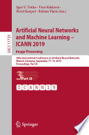 Artificial Neural Networks and Machine Learning     ICANN 2019  Image Processing