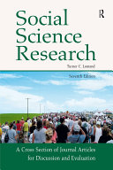 Social Science Research: A Cross Section of Journal Articles ...