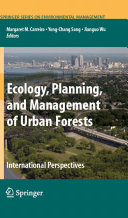 Ecology  Planning  and Management of Urban Forests