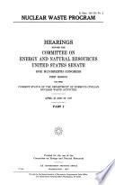 Nuclear Waste Program Book PDF