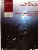 Canadian Journal of Fisheries and Aquatic Sciences Book