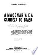 A maçonaria e a grandeza do Brasil